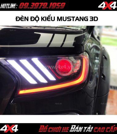 Bức ảnh: Đèn độ kiểu Mustang 3D sọc thẳng dành cho Ford Ranger 2019 Wildtrak và XLT