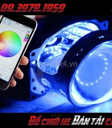 Photo: Đèn mắt quỷ đổi màu bằng app điện thoại dành cho xe hơi, xe bán tải