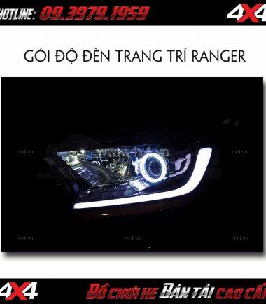 Độ đèn Ford Ranger: trang trí mí led và vòng angel eyes tại HCM 2018 2019