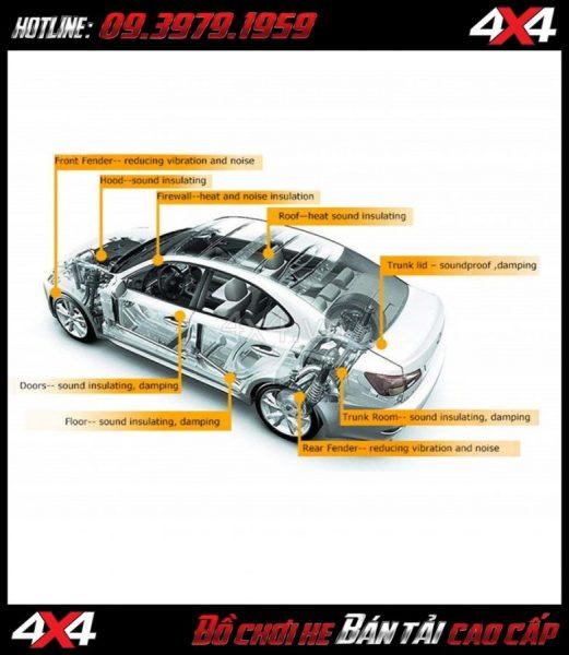 Độ cách âm chống ồn cho xe bán tải Colorado BT50 Ford Ranger Navara Triton Hilux Dmax ở Công ty TNHH 4x4 Sài Gòn