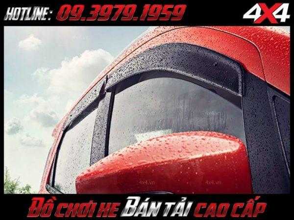 Xe bán tải BT50 Ford Ranger Dmax Navara Hilux Triton Colorado lắp vè che mưa có tác dụng gì?