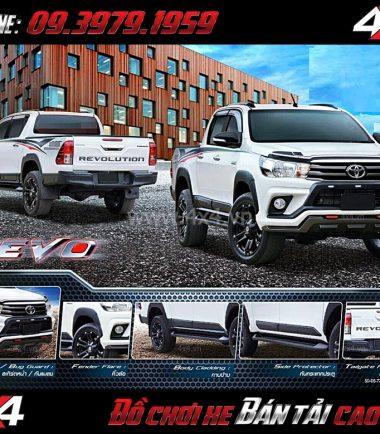 Combo bộ đồ chơi ốp trang trí RBS cho xe bán tải Toyota Hilux Revo