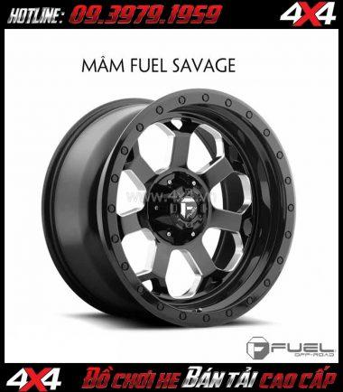 Bức ảnh Mâm ô tô thể thao: Mâm Fuel One Piece Savage D563 cho xe ô tô xe off-road