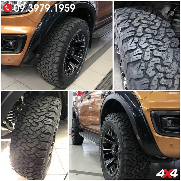 Đồ chơi xe Ford Ranger: Lốp AT BF Goodrich chất lượng, độ ngầu và cứng cáp cho xe bán tải