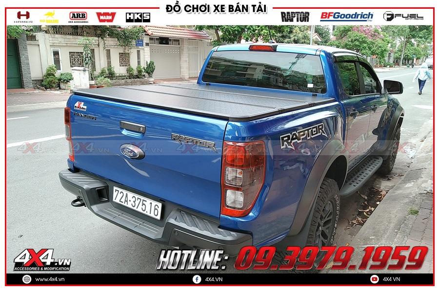 Báo giá nắp thùng 3 tấm dành cho xe Ranger Raptor 2020 hàng nhập Thái Lan