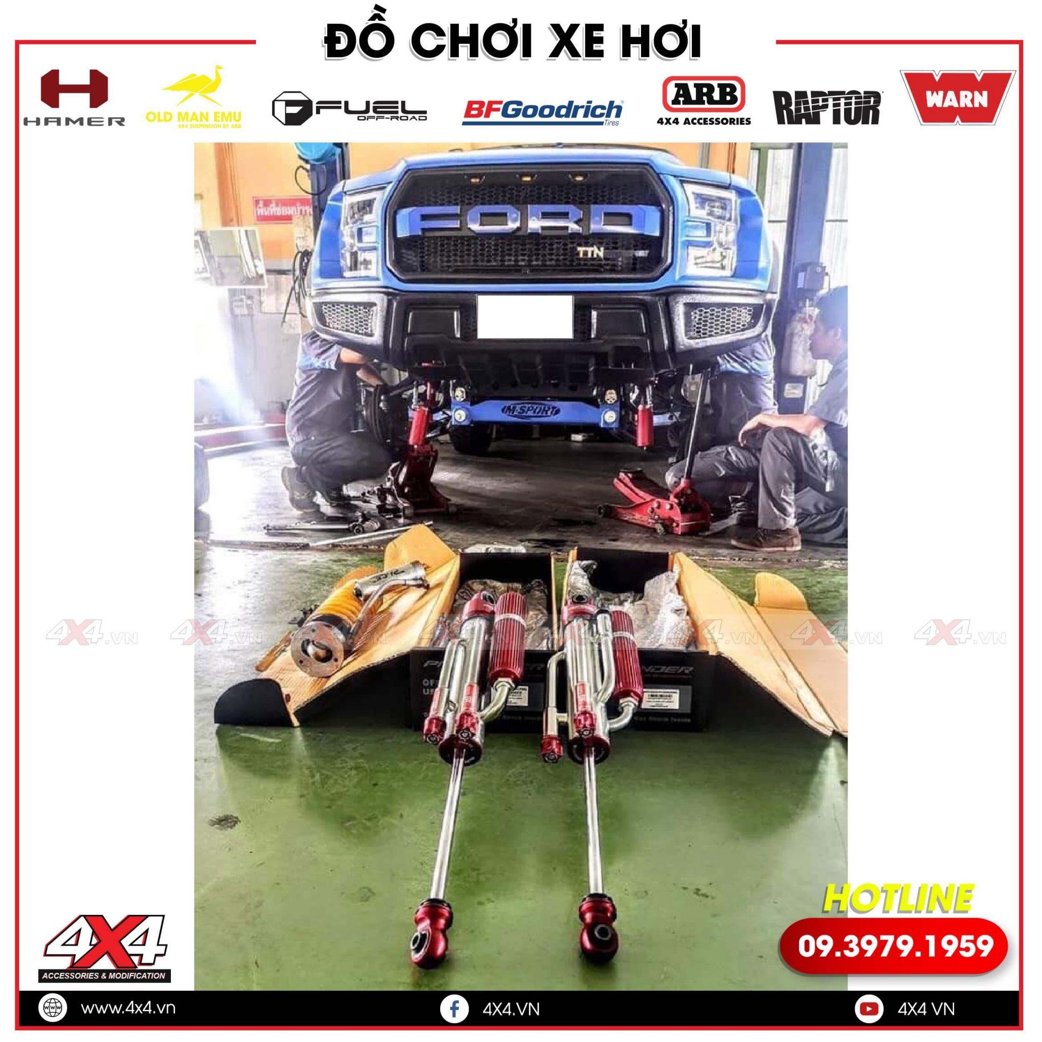 Trên Tay Phuộc Profender Dành Cho Ford Ranger Siêu Đẹp tại Shop 4x4