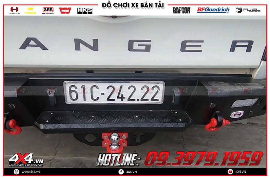 Độ cản sau Hamer cho xe Bán tải cực đỉnh tại 4x4