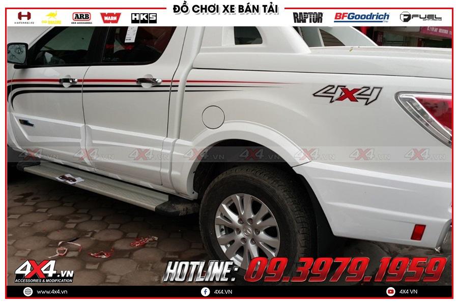 Báo giá ốp hông cửa xe Mazda BT50 2020 nhập khẩu Thailand