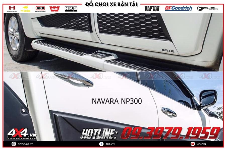 Giá ốp hông cửa xe Nissan Navara 2020 hàng nhập Thái Lan