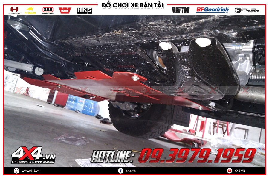 Giáp gầm xe Mazda BT50 cực chất tại Cửa hàng 4x4 HCM