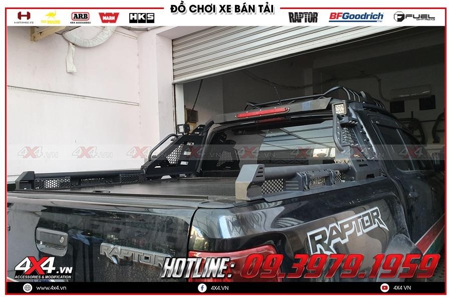 Lên nắp thùng cuộn cho xe Ranger Raptor 2020 giá rẻ ở 4x4