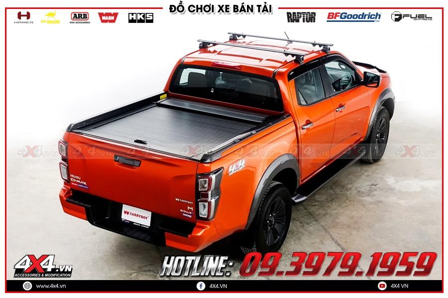 Lưu ý khi độ nắp thùng cuộn dành cho xe Isuzu Dmax 2020 sao cho tiện dụng ở 4x4