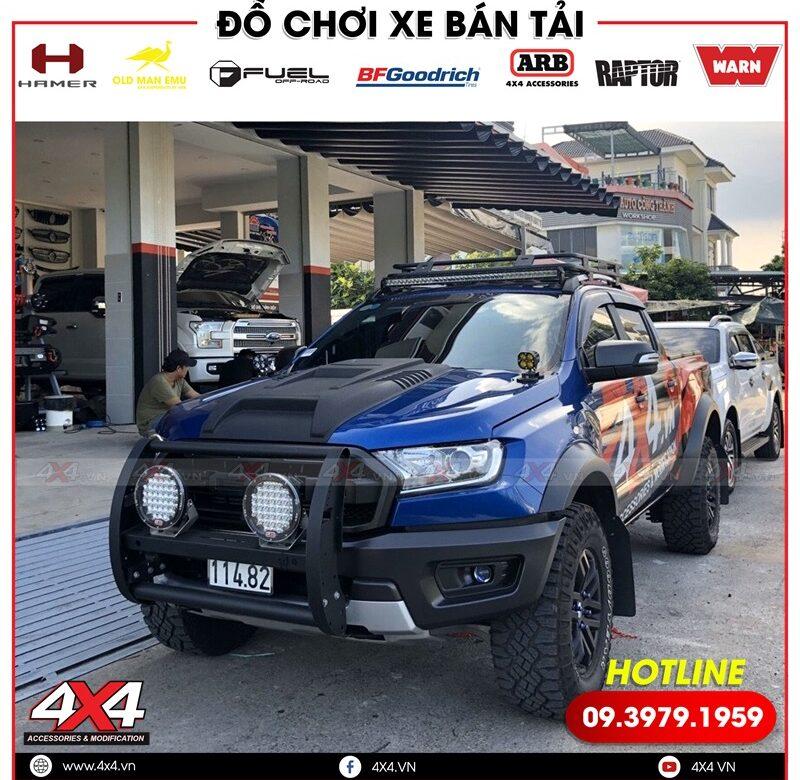 Cản trước Police độ đẹp và cứng cáp cho xe bán tải Ford Ranger